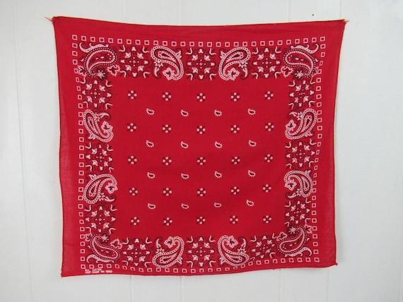red bandanas Fast Color 1960s bandana matching set vintage bandana face scarf vintage workwear vintage clothing 3 vintage bandana