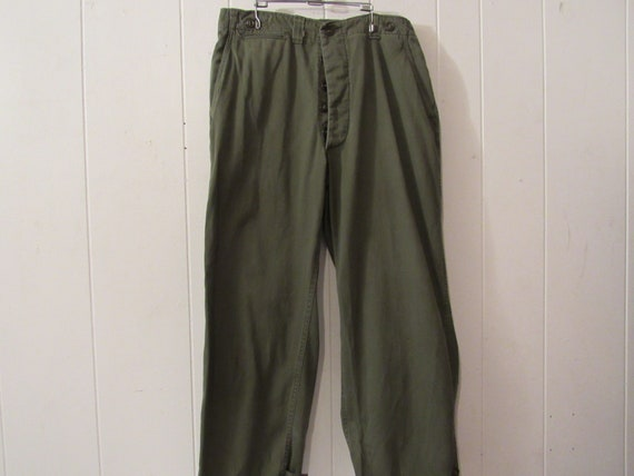 Vintage pants, Army pants, 1950s pants, Military p