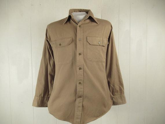 Vintage shirt, military shirt, work shirt, 1960s s