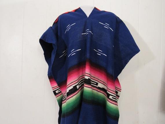 Vintage poncho, Serape Saltillo, southwestern ponc