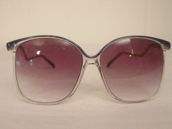 Vintage sunglasses, 1980s sunglasses, blue sunglas
