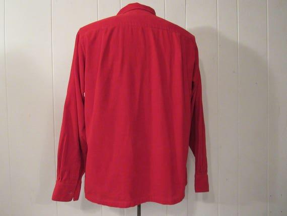 Vintage shirt, corduroy shirt, 1960s Rockabilly s… - image 3