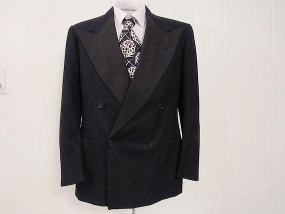 Vintage jacket, 1940s jacket, tuxedo jacket, vinta