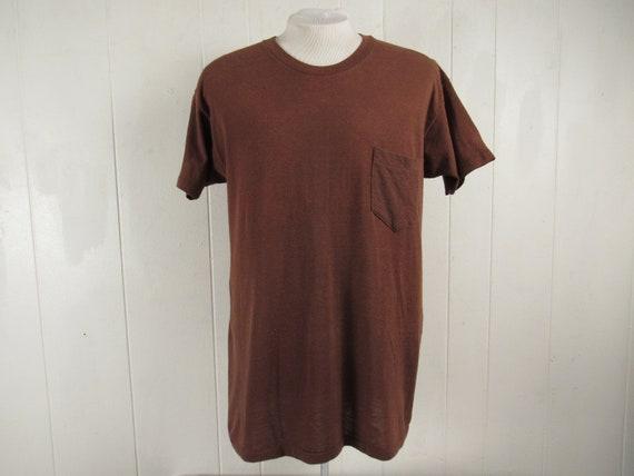Vintage t shirt, pocket t shirt, 1970s pocket tee,