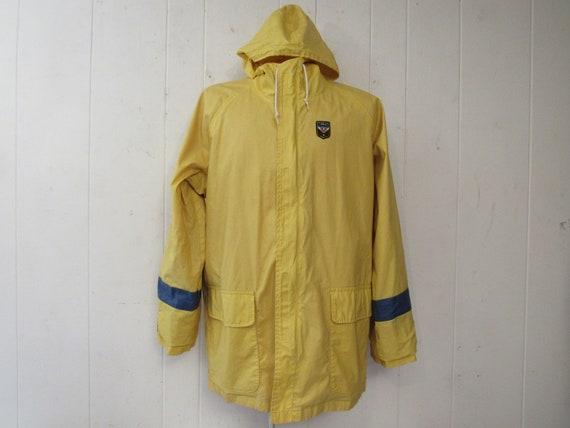 Vintage jacket, Polo Uni jacket, yellow jacket, ra