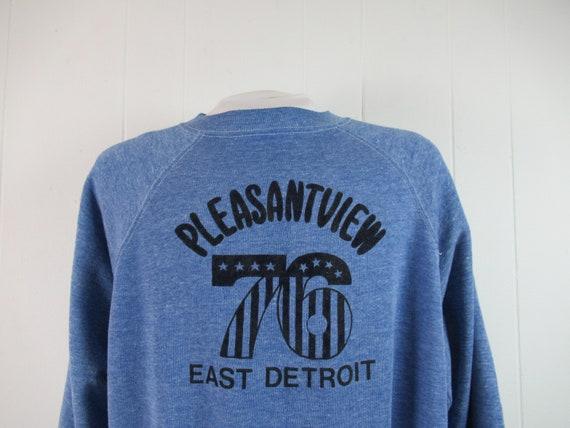 Vintage sweatshirt, 1970s sweatshirt, Detroit t sh