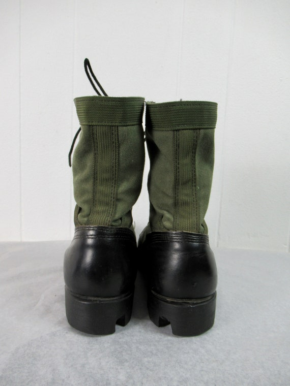 Vintage boots, combat boots, canvas and leather b… - image 5