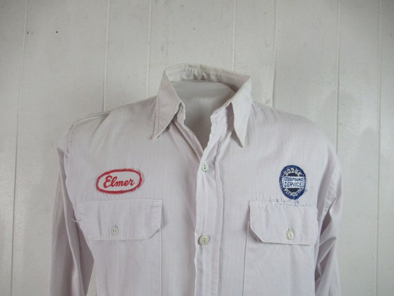 VINTAGE SHIRT, 1940s shirt, Dodge Plymouth, Elmer,