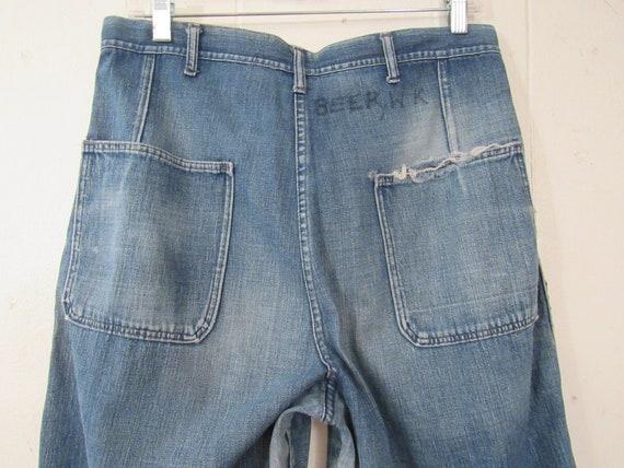 Vintage pants, 1940s pants, patched pants, 1940s … - image 5