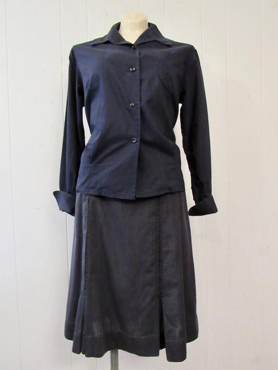 Vintage uniform, 1940s uniform, cotton uniform, s… - image 2