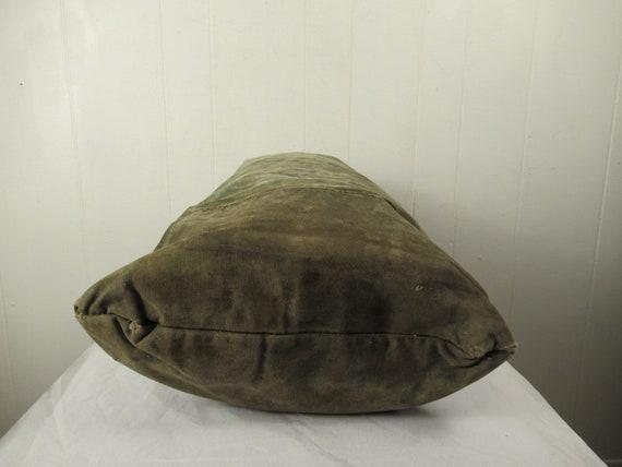 Vintage bag, 1940s bag, canvas bag, canvas duffel… - image 7