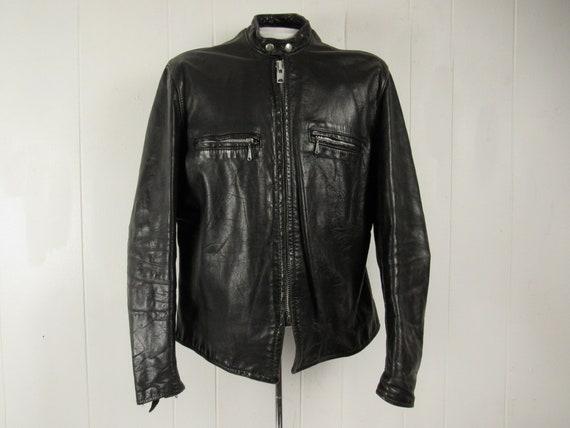 Vintage leather jacket, size 46, motorcycle jacket