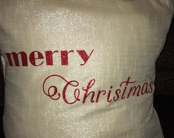 Beautiful Christmas 20x20 Pillow Cover+ Pillow Cushion Made to Order!!