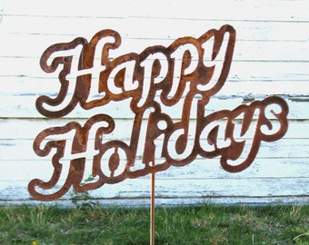 Christmas Decorations, Outdoor Christmas Decorations, Christmas Yard Decorations, Christmas Lawn Decorations, Happy Holidays Yard Stake