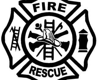 Fire Fighter Decal Praying Remembrance American Hero Fireman Car Window Sticker