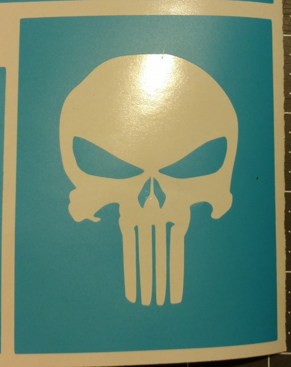 punisher skull paint mask stencil template decal etsy