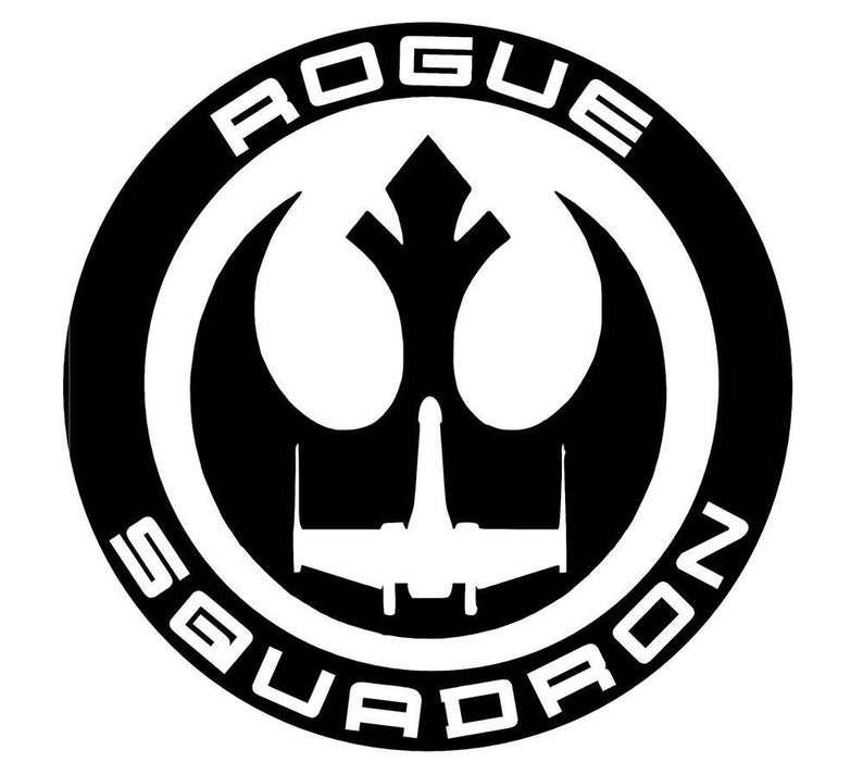 Star Wars Rogue Squadron Symbol Vinyl Decal cosplay FREE SHIPPING Multiple  Sizes & Colors car truck window laptop cellphone tumbler sticker