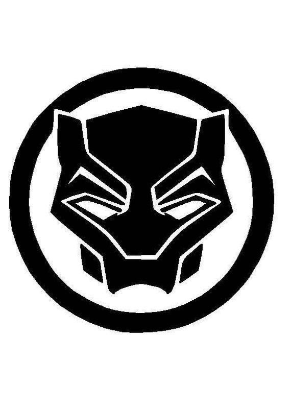 black panther logo symbol vinyl decal sticker free shipping etsy