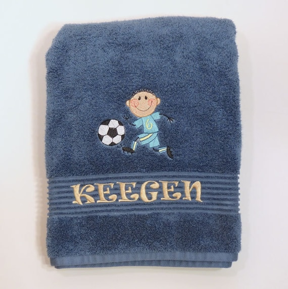 Personalized Bath Towels For Kids Soccer Towel Sports