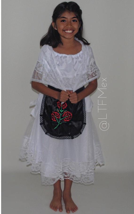 Veracruz Dress Costumevestido De Veracruz Girls Dresses Mexican Dresses Cinco De Mayo 16 De Septiembre Cultural Attire Mexican Clothe