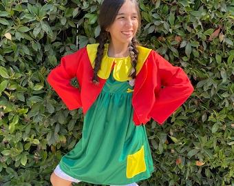 Chilindrina Girl Costume/ Mexican Girls Dresses/ Chilindrina Girl Dress/ Party Dress/ Mexican Dresses/ Cinco de Mayo Girl Dress