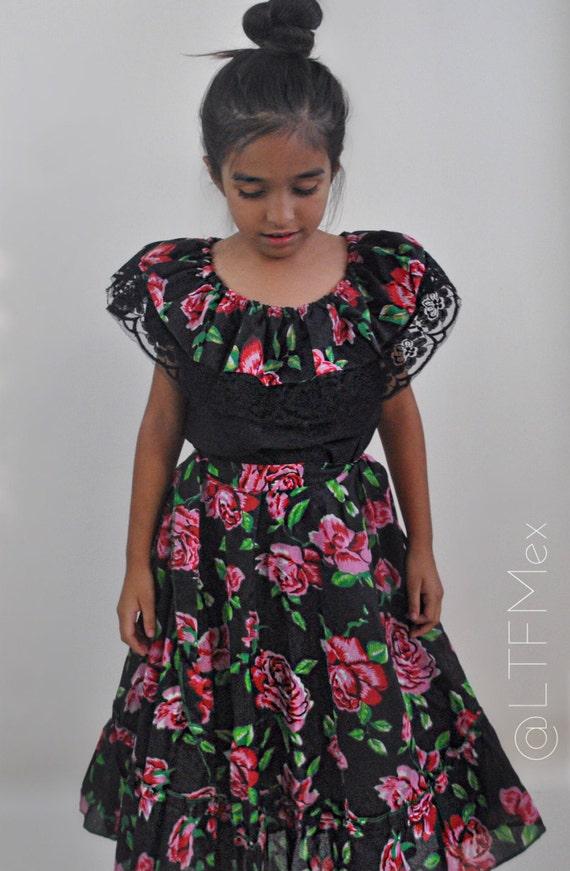 Chiapas Dress Vestido Chiapas Cinco De Mayo Dress 16 De Septiembre Dress Chiapas Girl Dress Mexican Girls Dresses Mexican Dress