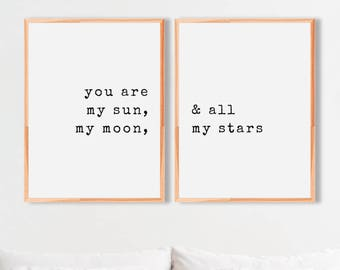 Sun Moon Stars Quote Etsy