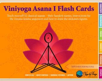 Viniyoga Asana 1 Yoga Flash Cards Interactive eBook