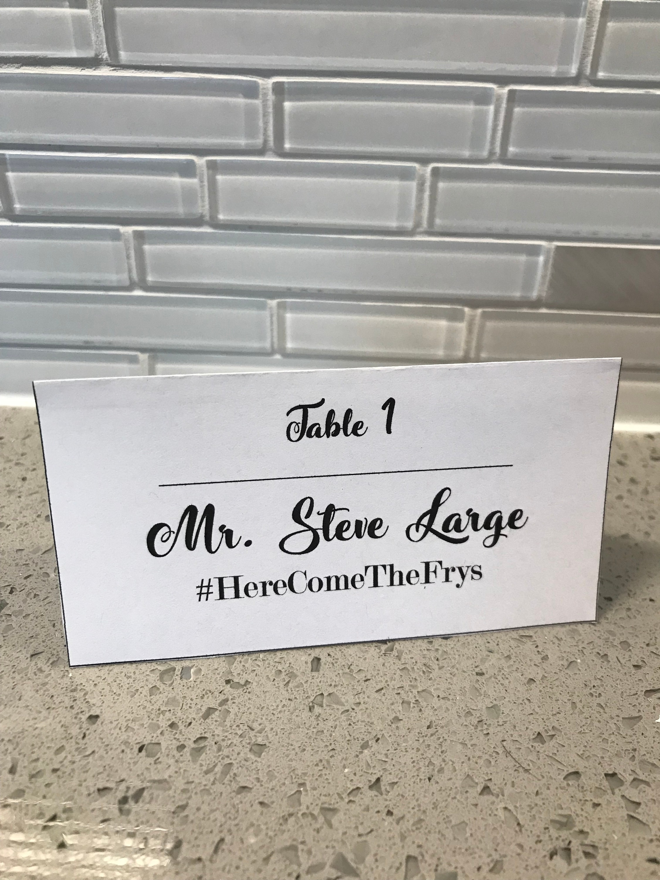 Tent Place Cards Template Hashtag Table Number Modern | Etsy