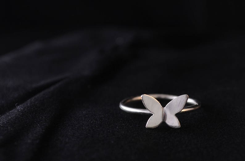Butterfly Wings Ring Sterling Silver