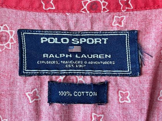 Vintage classic Ralph Lauren red bandana shirt - image 5