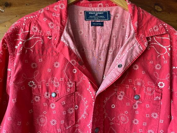 Vintage classic Ralph Lauren red bandana shirt - image 6