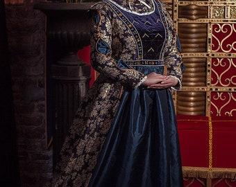 Anna Henrietta dark blue dress
