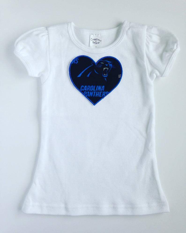 release date: 57c73 608a7 Toddler Girl Carolina Panthers Heart Shirt Short Sleeve
