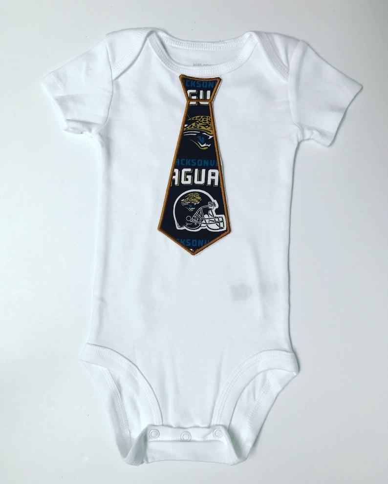 Baby Boy Jacksonville Jaguars tie onesie