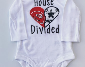House Divided NFL, MLB or NCAA onesie
