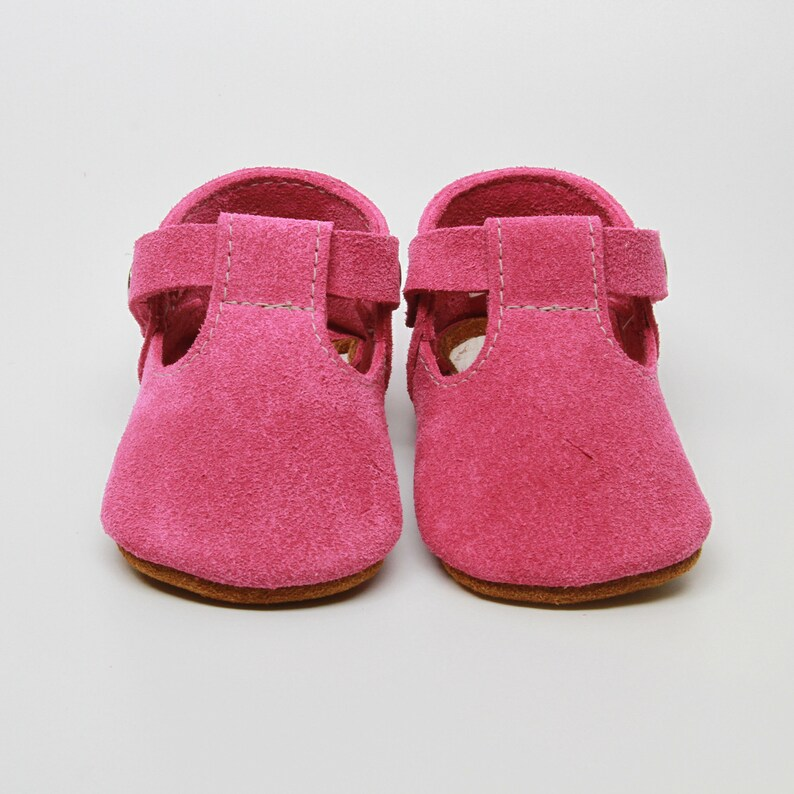 68034bffcdef9 Hot Pink Leather Baby Moccasins Baby Girl Moccasins Suede Bottom Baby Girl  Shoes Princess Shoes Toast Suede