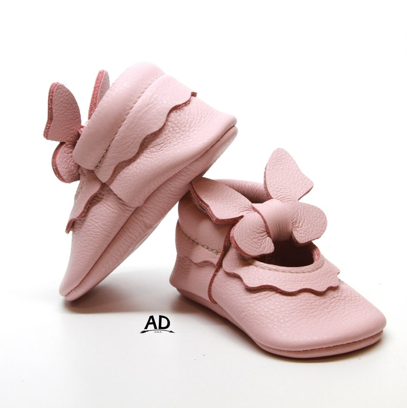 acc8fd5e423fb Baby Moccasins, Pink Butterfly Mary Jane Baby Moccasins, Baby Girl Shoes,  Toddler Moccasins, Baby Girl Moccasins, Soft Sole Baby Shoes3
