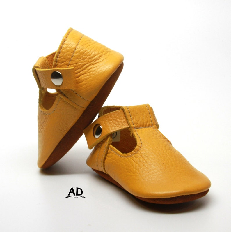 f4530662c4a2a Yellow Leather Baby Moccasins Baby Girl Moccasins Suede Bottom Baby Girl  Shoes Princess Shoes Toast Suede