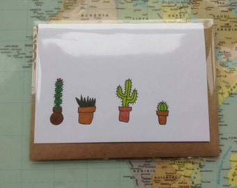 Cactus Greeting Card - A7 Blank Card