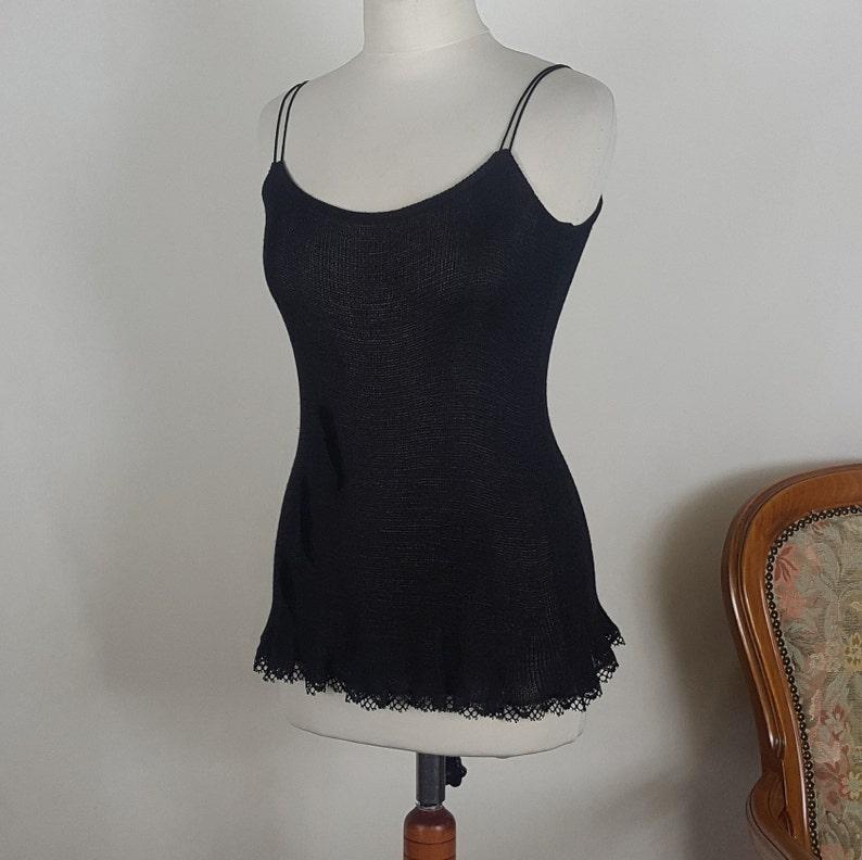 Black greeting set Black Sleeveless Blouse Bolero with bluzk\u0105 on the shoulder straps Black set with blouse on the straps and bolero
