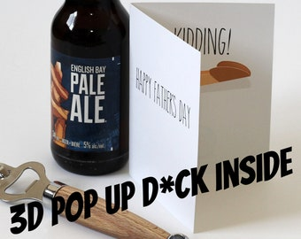Fathers Day Popup Dick Card - Happy Fathers Day