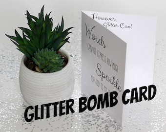 Mother's Day Glitter Bomb Card - Words and Sparkle