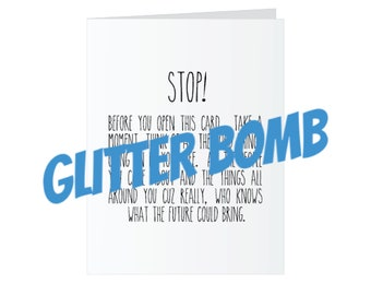 All Occasions Glitter Bomb Card - Stop!