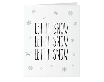 Christmas Glitter Bomb Card - Let it Snow