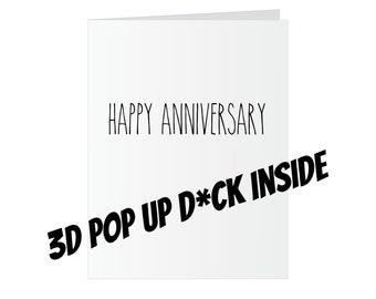 Anniversary Popup Dick Card - Happy Anniversary
