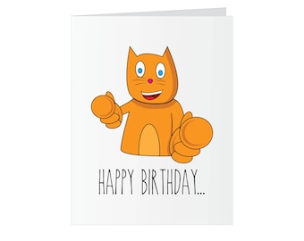 Birthday Greeting Card - Asshole
