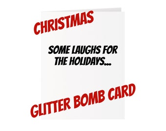 Christmas Glitter Bomb Card - Laughs for the Holidays