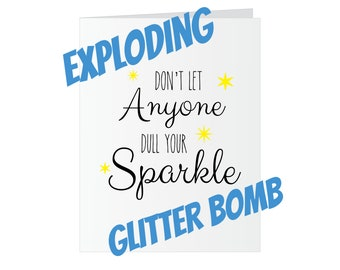 Birthday Glitter Bomb Card - Dull Your Sparkle
