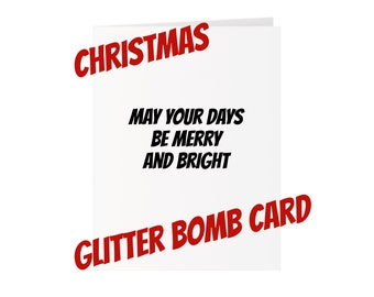 Christmas Glitter Bomb Card - Merry and Bright